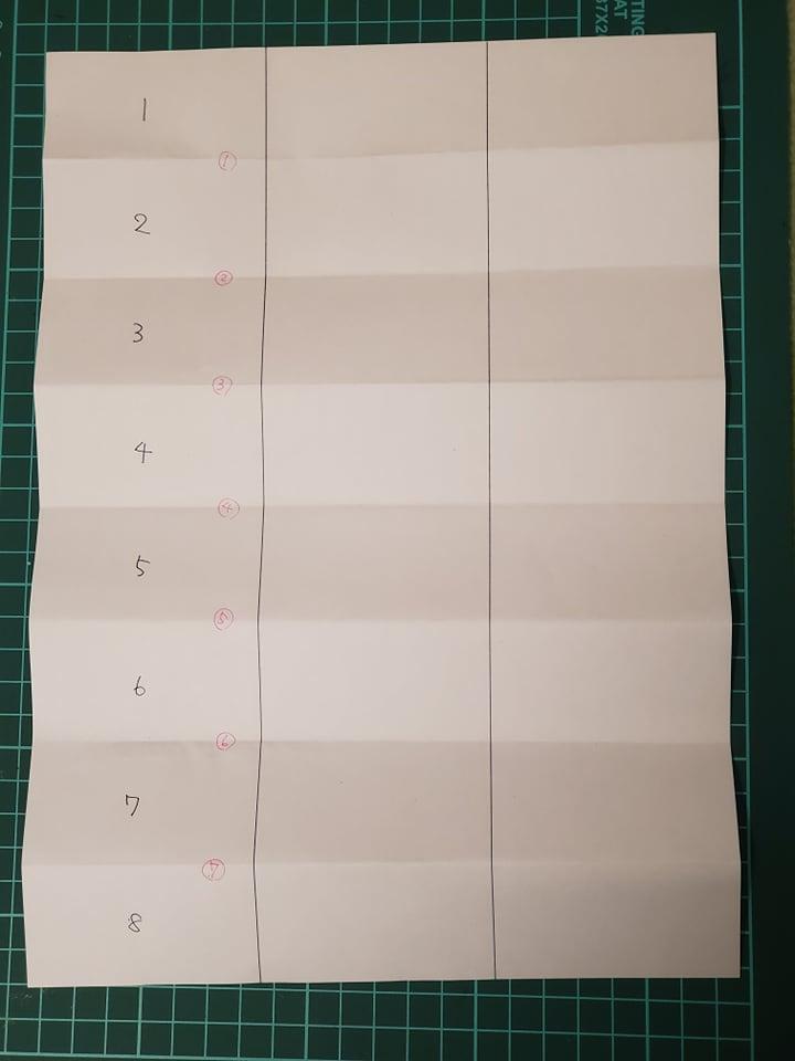おみくじのサイズを変える際には、簡易で試作をしております。